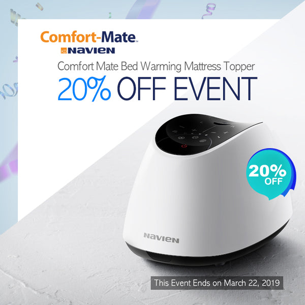 20% OFF EVENT Comfort Mate Bed Warming Mattress Topper