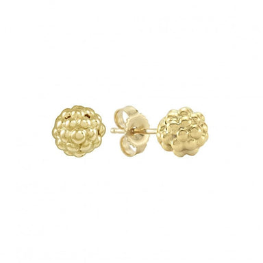 Caviar Gold Beaded Stud Earrings (6mm)