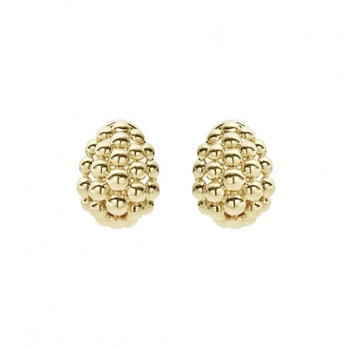 Caviar Gold Earrings