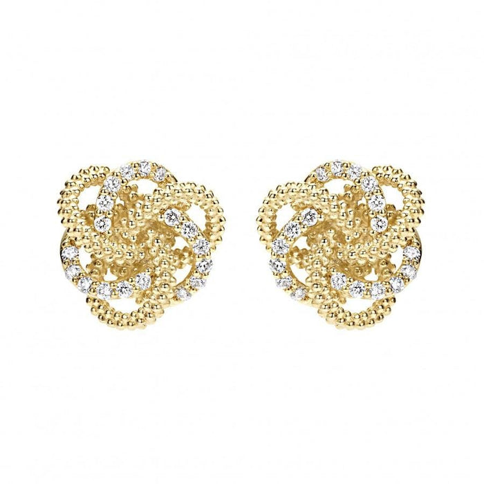 Love Knot Diamond Stud Earrings (10mm)