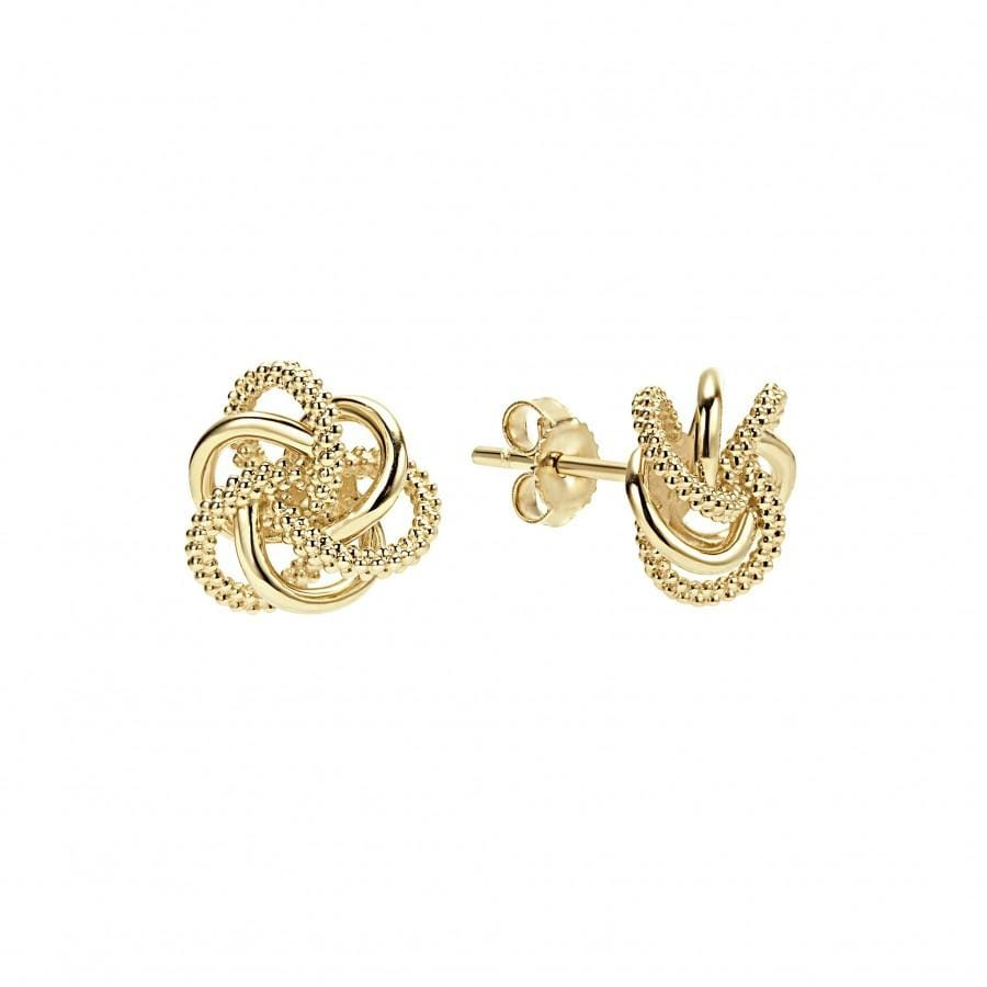 Love Knot Stud Earrings (11mm)