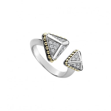 Diamond KSL Pyramid Open Ring