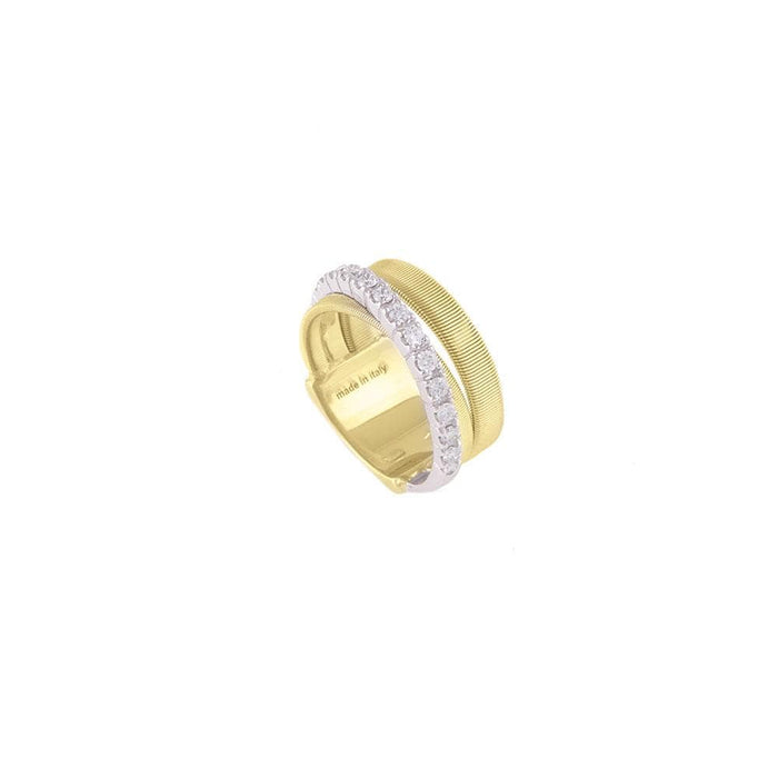 18K Gold Three Strand Diamond Ring