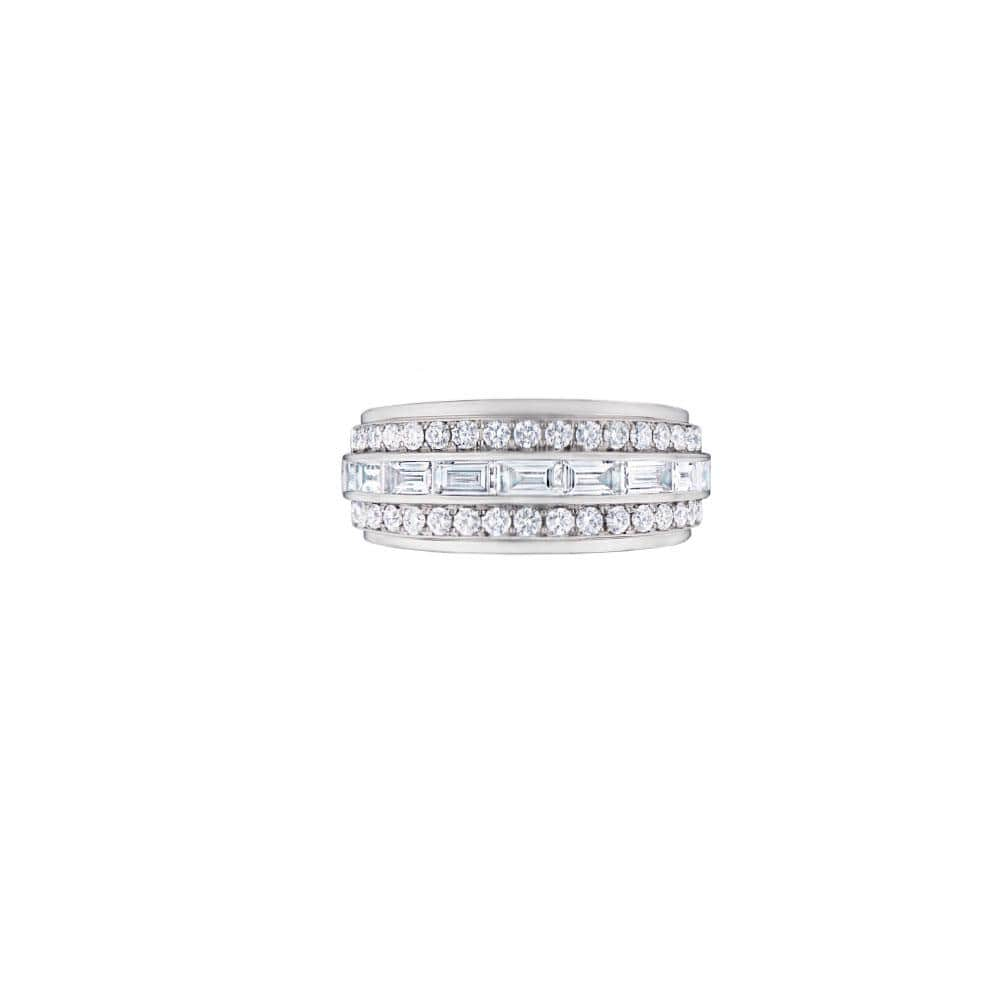 18K White Gold Diamond Duet Collection Ring