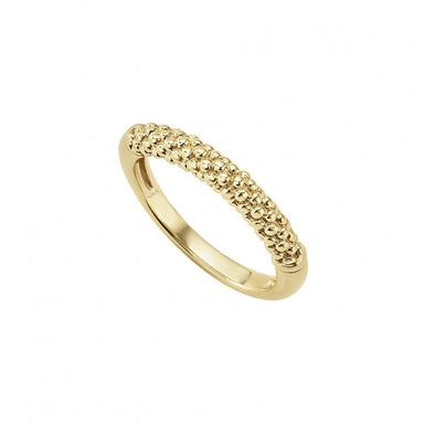 Caviar Gold Beaded Ring (3mm)