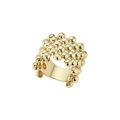 Caviar Gold Wide Band Ring