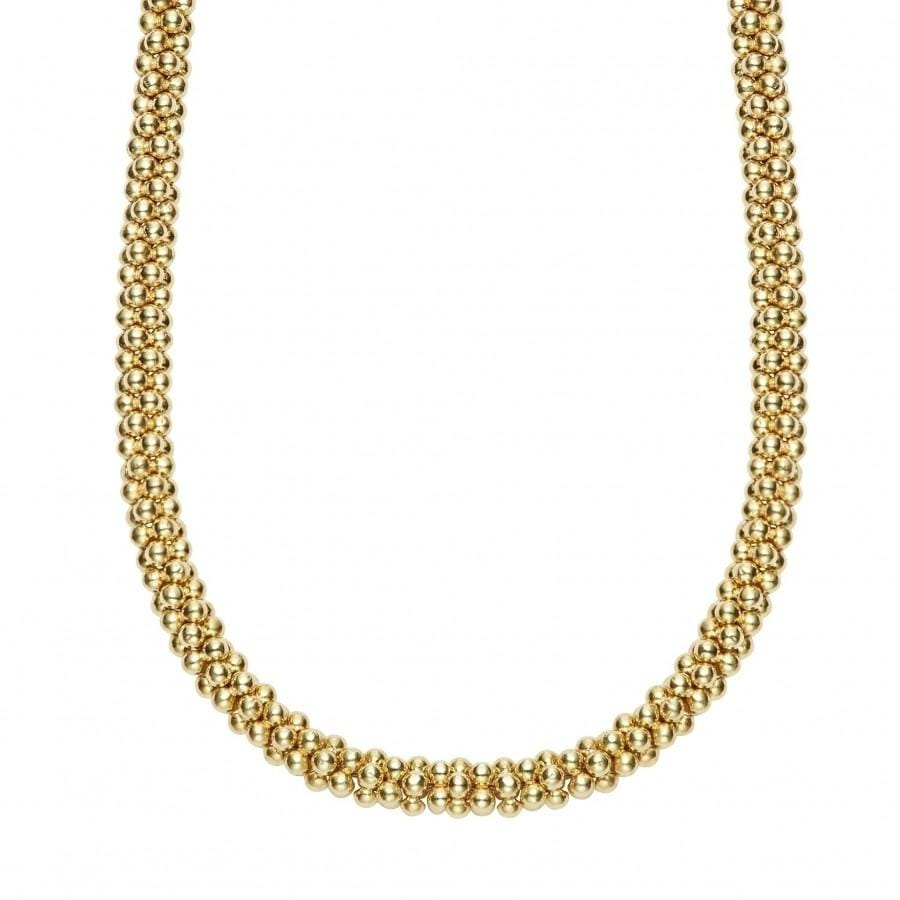 Caviar Gold Necklace (4mm)