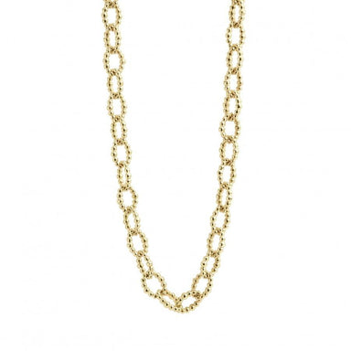 "Caviar Gold Fluted Necklace (32"")"