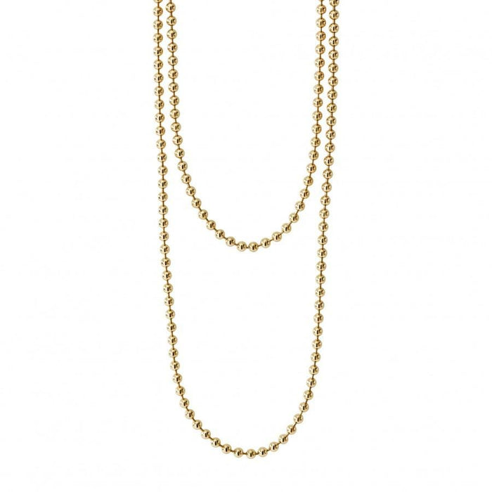 Caviar Gold Ball Chain Necklace
