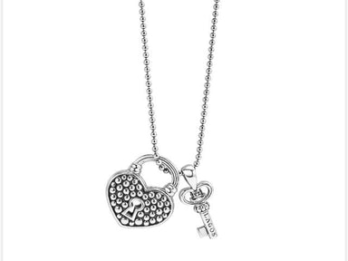 BELOVED LOCK AND KEY PENDANT NECKLACE