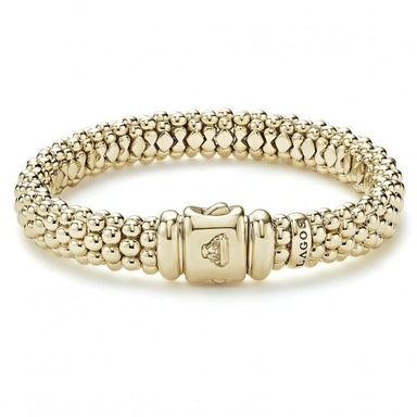 Caviar Gold Beaded Bracelet (9mm)