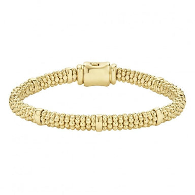 Caviar Gold Beaded Bracelet (6mm)