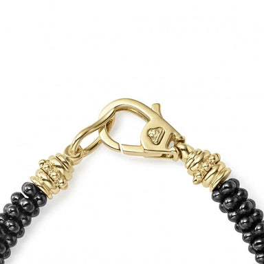 Gold & Black Caviar 5/3 Beaded Bracelet (5mm)