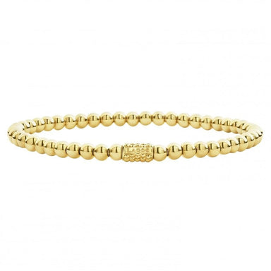 Caviar Gold Bead Bracelet (4mm)