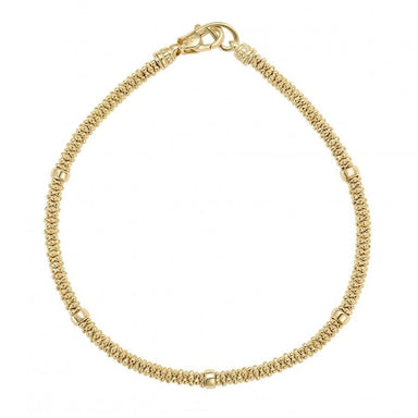 Caviar Gold Rope Bracelet (3mm)