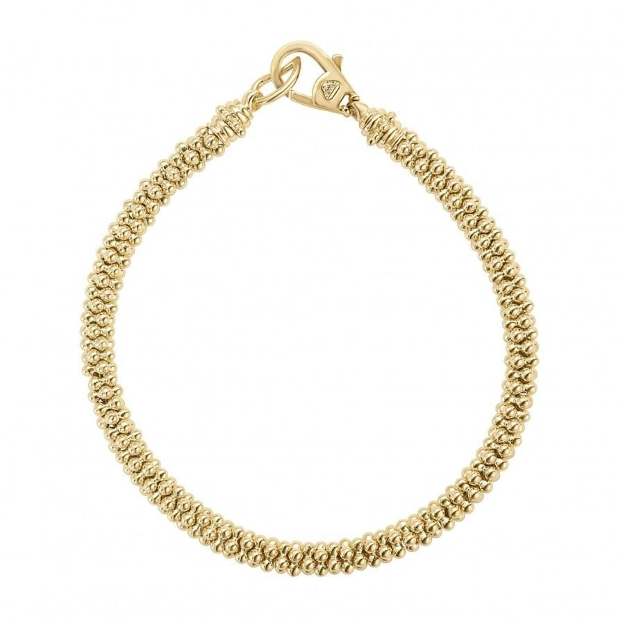 Caviar Gold Rope Bracelet (5mm)