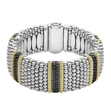 Five Station Black Diamond Lux Caviar Bracelet