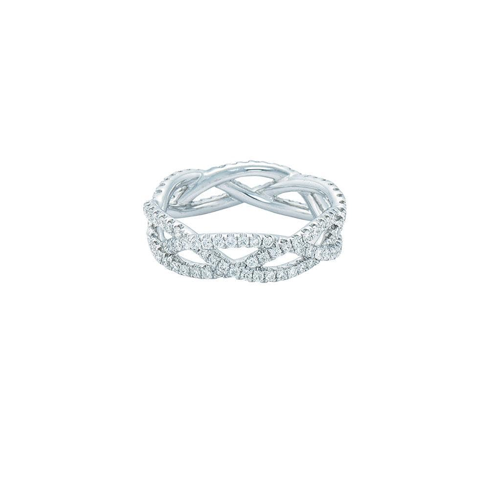 Diamond Twist Eternity Band