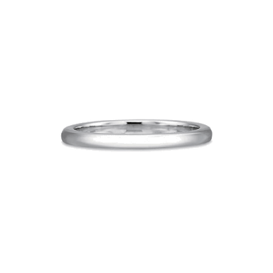 Classic Plain White Gold Band
