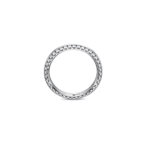 New Aire Prong Set White Gold Band