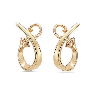 18K Yellow Gold 26mm Oval Hoop Earrings