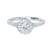 Round Brilliant Cut Halo Diamond Ring