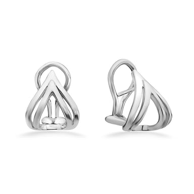 "Sterling Silver Double ""V"" Earrings"