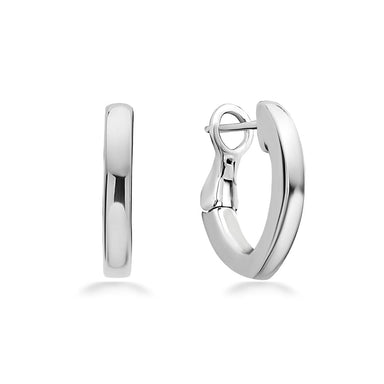 14K White Gold & Sterling Silver 18MM Hoop Earrings
