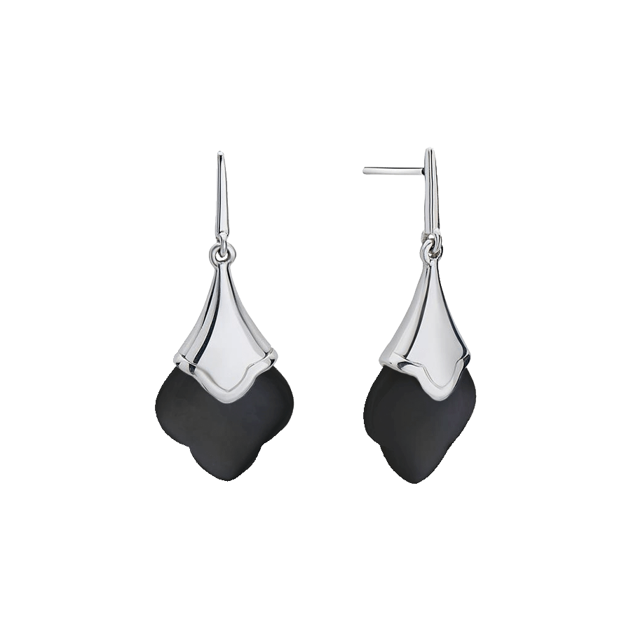 Stslvr Flower Clover Drop Earrings