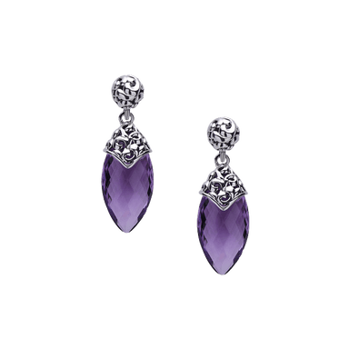 Skye Amethyst Spear Earrings