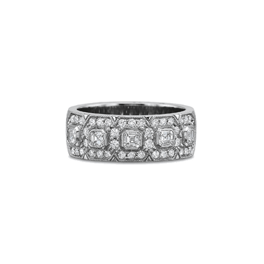 Classic Pave Set Platinum Band