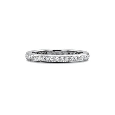 Classic Bead Set White Gold Band