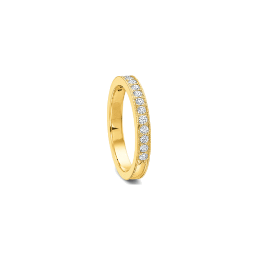 Petite FlushFit Bead Set Yellow Gold Band