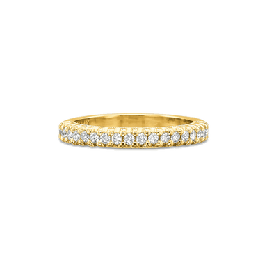 Classic Prong Set Yellow Gold Band