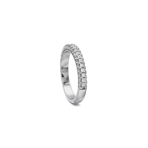 Classic Prong Set White Gold Band