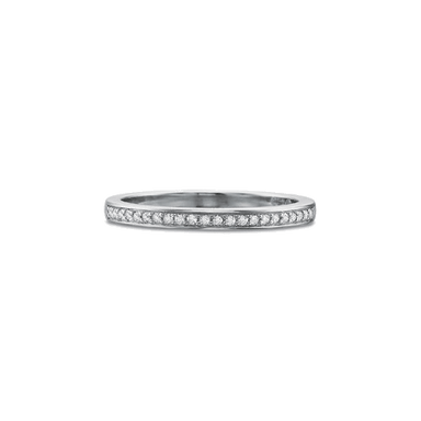 Petite FlushFit Bead Set White Gold Band