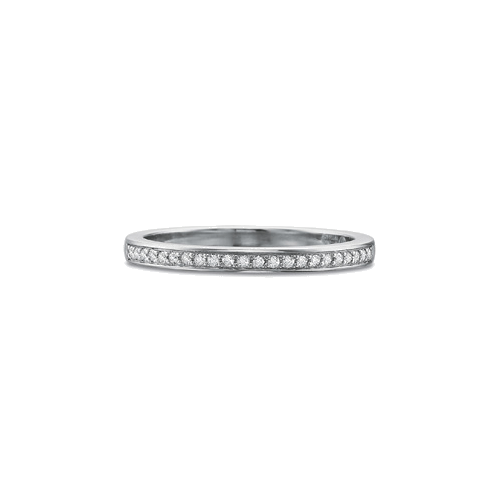 Petite FlushFit Bead Set Platinum Band