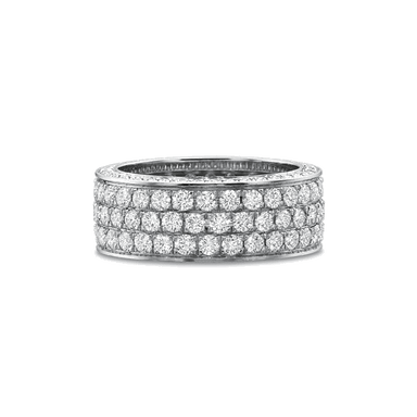 Classic Bead Set Platinum Band