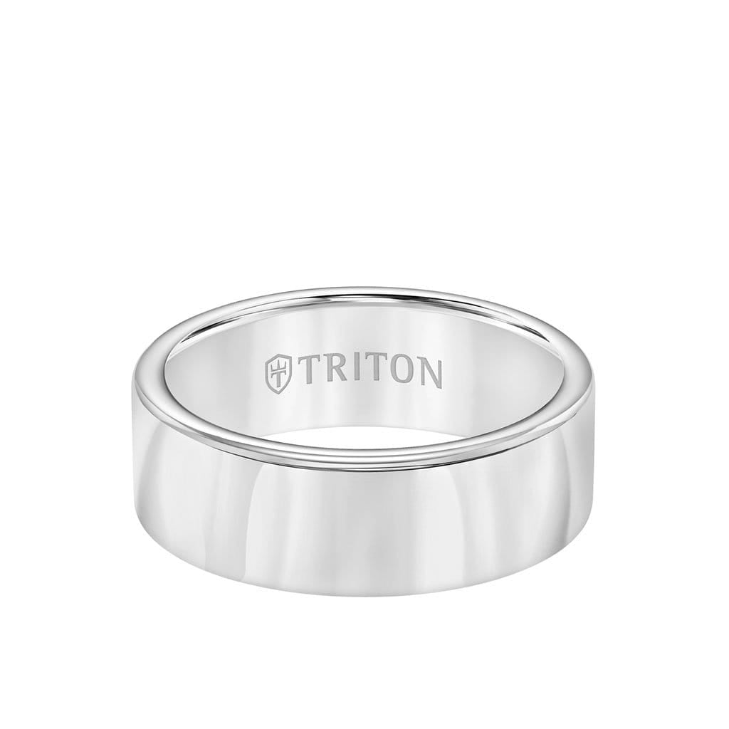8MM Tungsten Carbide Ring - Domed Bright Finish and Round Edge