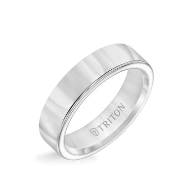 6MM Tungsten Carbide Ring - Bright Finish and Round Edge