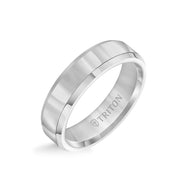 6MM Tungsten Carbide Ring - Bright Finish and Bevel Edge