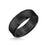 8MM Tungsten Carbide Ring - Satin Center and Bevel Edge