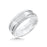 8MM Tungsten Carbide Ring - Vertical Cut Center and Coin Edge