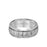 8MM Tungsten Carbide Ring - Brushed Faceted Center and Round Edge