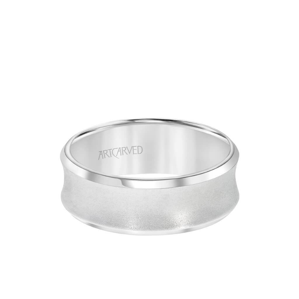6MM Men's Wedding Band - Satin Finish and Bevel Edge