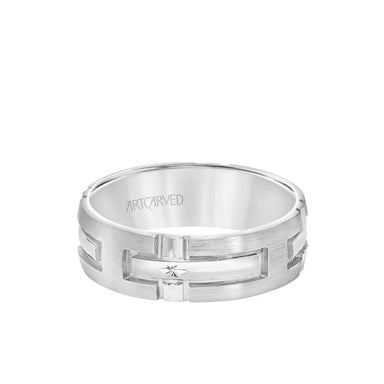 7MM Men's Wedding Band - Engraved Cross Design