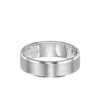 6MM Men's Wedding Band - Satin Finish and Coin Edge