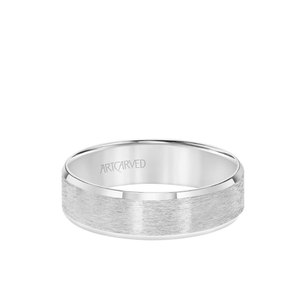 6MM Men's Classic Wedding Band - Satin Finish and Bevel Edge
