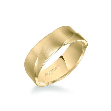 7MM Men's Wedding Band - Woven Design with Satin Finish