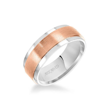8MM Men's Classic Wedding Band - Satin Finish and Flat Edge